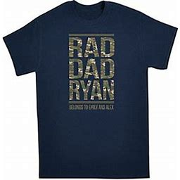 Personalized Rad Dad T-Shirt - L - Camo - Navy - Personal Creations Gifts Customized Tshirts & Clothing For Mens Womans Kids Gifts 2020